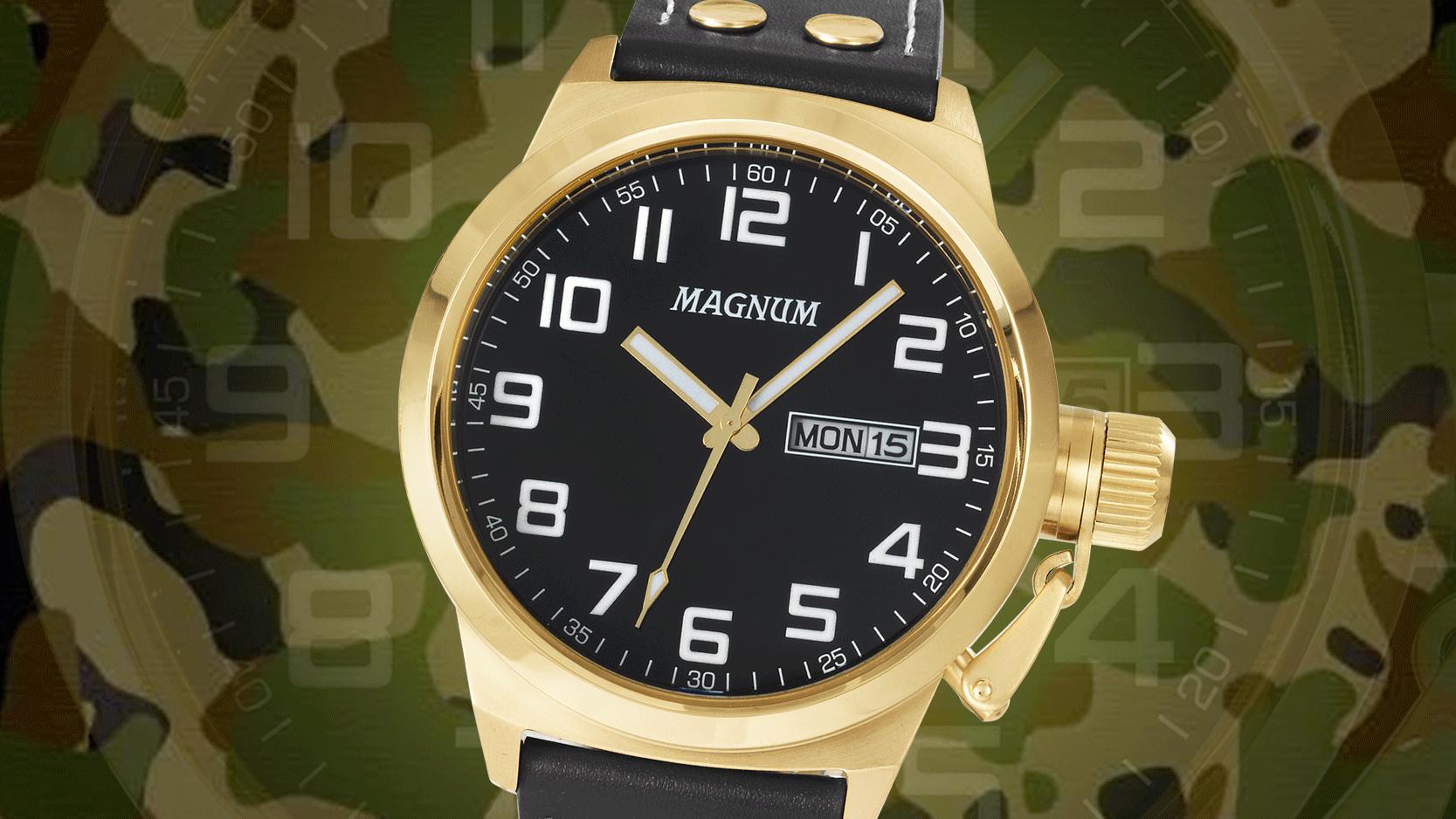 Atitude no pulso: relógio estilo militar